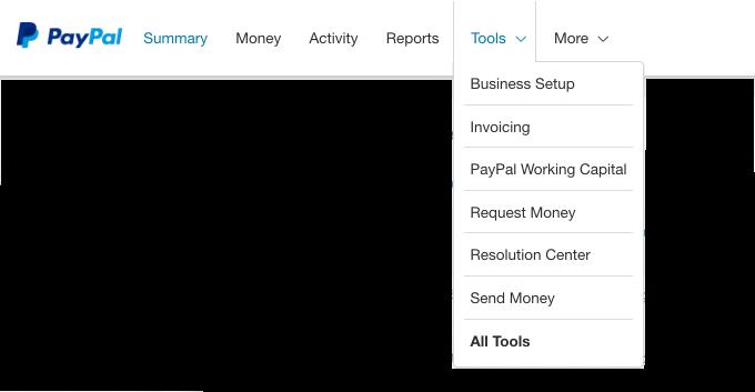 Select PayPal Tools